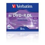 Matrica VERBATIM DVD+R 5-P DOUBLE LAYER 8, 5GB 8X