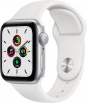 Apple Watch SE GPS, 44mm Silver Aluminium Case with White Sport Band - Regular EOL