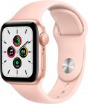 Apple Watch SE GPS, 44mm Gold Aluminium Case with Pink Sand Sport Band - Regular EOL
