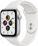 Apple Watch SE GPS, 40mm Silver Aluminium Case with White Sport Band - Regular EOL