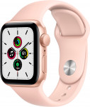 Apple Watch SE GPS, 40mm Gold Aluminium Case with Pink Sand Sport Band - Regular EOL