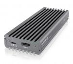 Ārējā cietā diska korpuss IcyBox USB Type-C aluminium enclosure for M.2 NVMe SSD (non sata)