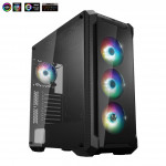 Korpuss Fortron CMT520 PLUS Glass ATX 4 ARGB FAN POC0000070