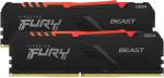 Operatīvā Atmiņa Kingston Fury Beast RGB 16GB (2x8GB) 3000MHz CL15, Kit of 2, DDR4