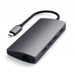 Dokstacija Satechi USB-C MULTI-PORT WITH ETHERNET V2 Space Gray