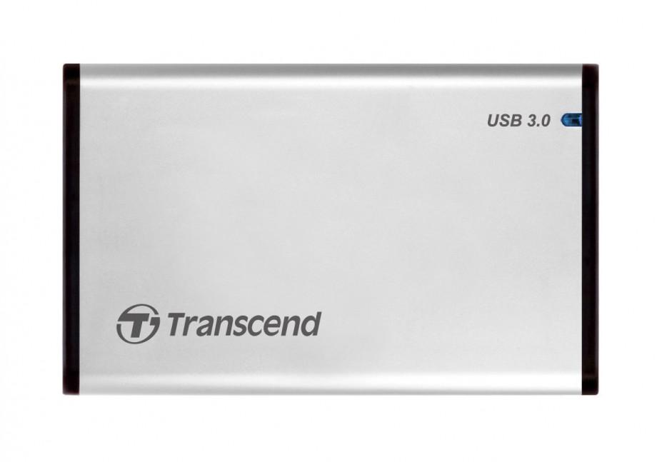 """Ārējā cietā diska korpuss Transcend enclosure SATA-to-USB 3.0 2.5"""" - alluminum 0"""