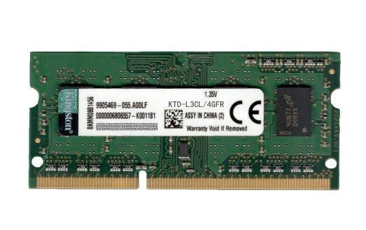 Operatīvā atmiņa Kingston SODIMM 4GB PC12800 DDR3L, 1.35V 0