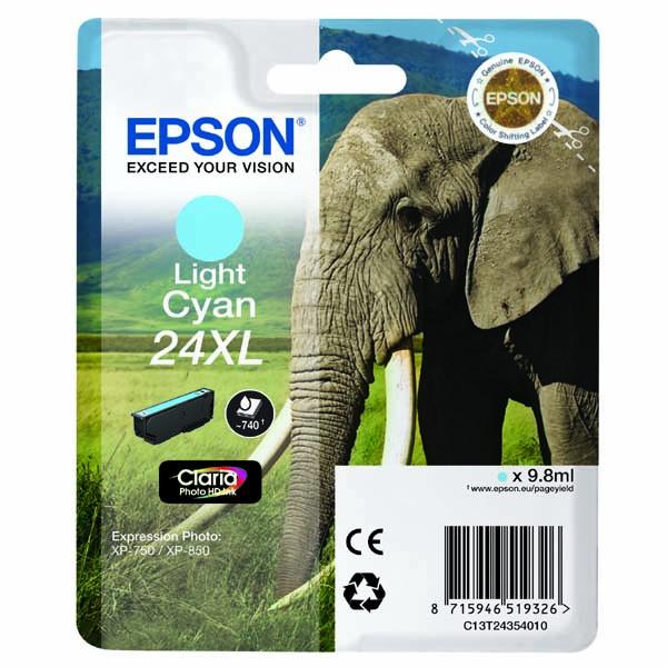 Epson tinte T2435 Light Cian XL 8,7 ml XP-750/850 0