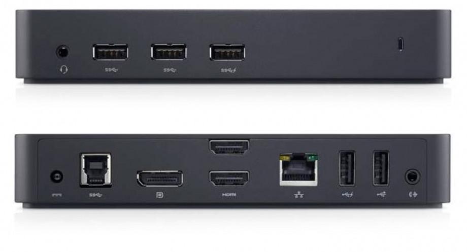 Dokstacija Dell USB 3.0 Ultra HD Triple Video Docking Station D3100 1