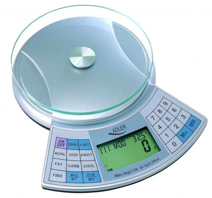 Virtuves svari Adler ADS 3133 Maximum weight (capacity) 5kg, Metallic warranty 0