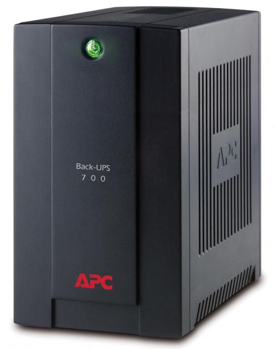 Nepārtrauktās barošanas bloks APC Back-UPS 700VA, 4xIEC320 0