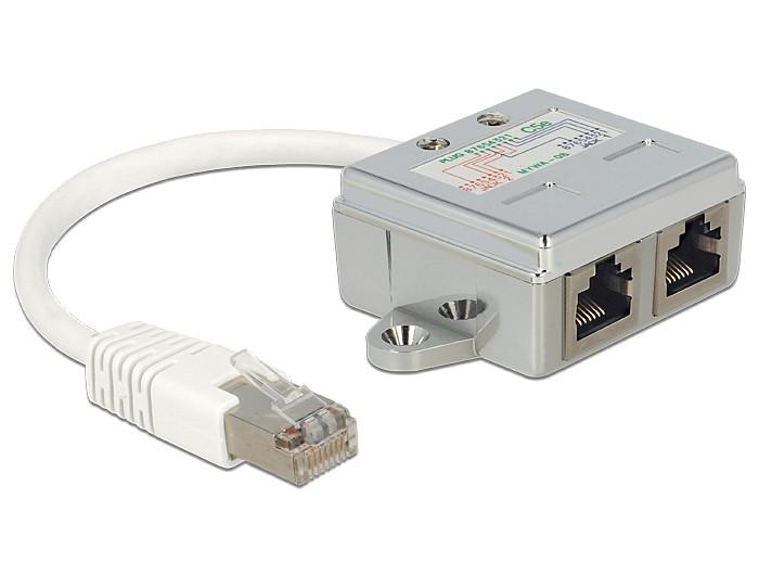 Delock RJ45 Port Doubler 1 x RJ45 plug > 2 x RJ45 jacks (2 x Ethernet) 0