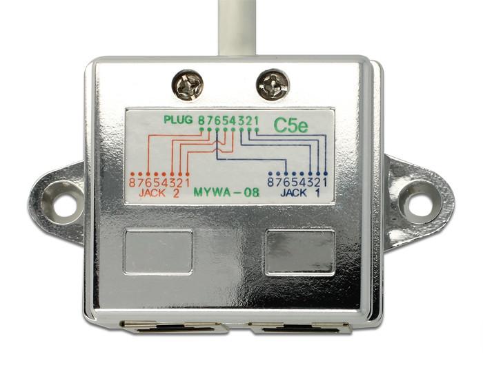 Delock RJ45 Port Doubler 1 x RJ45 plug > 2 x RJ45 jacks (2 x Ethernet) 2
