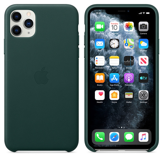iPhone 11 Pro Max Leather Case - Forest Green 2