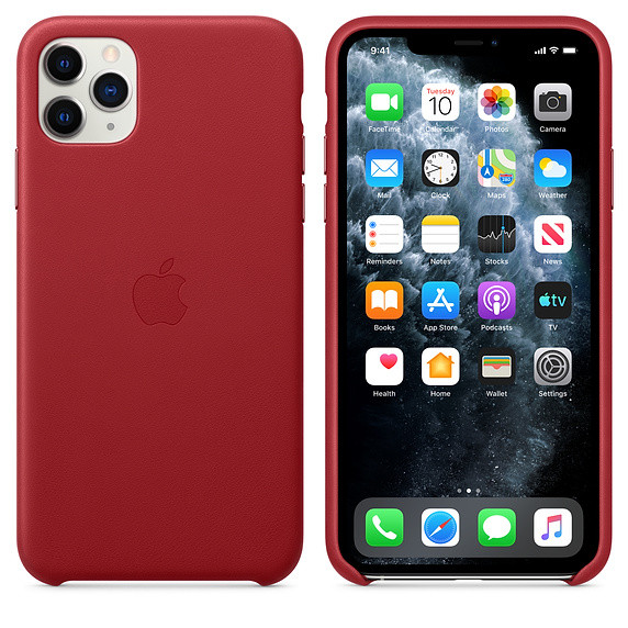 iPhone 11 Pro Max Leather Case - (PRODUCT)RED EOL 2