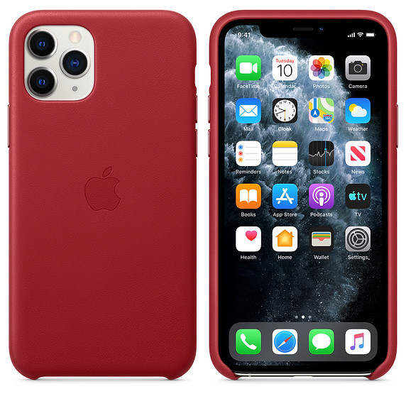 iPhone 11 Pro Leather Case - (PRODUCT)RED EOL 2