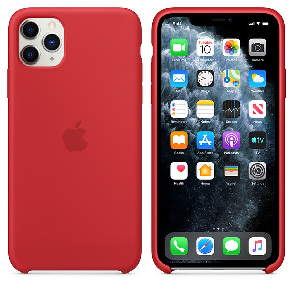 iPhone 11 Pro Max Silicone Case - (PRODUCT)RED EOL 2
