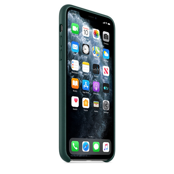 iPhone 11 Pro Max Leather Case - Forest Green 1