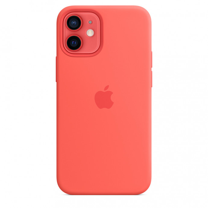 iPhone 12 mini Silicone Case with MagSafe - Pink Citrus 1