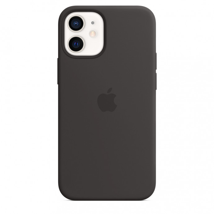 iPhone 12 mini Silicone Case with MagSafe - Black 4