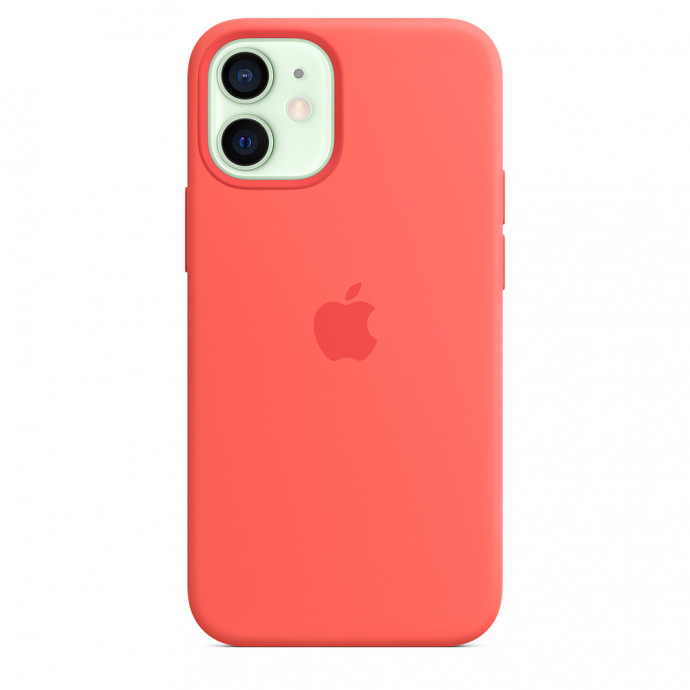 iPhone 12 mini Silicone Case with MagSafe - Pink Citrus 2