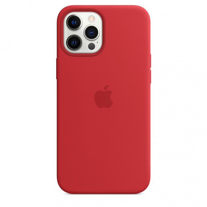 iPhone 12 Pro Max Silicone Case with MagSafe - (PRODUCT)RED 1