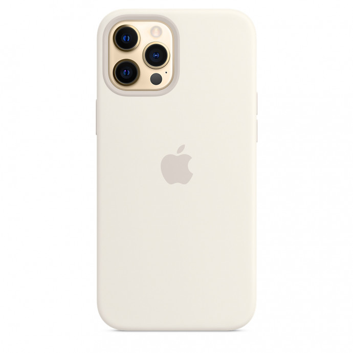 iPhone 12 Pro Max Silicone Case with MagSafe - White 2