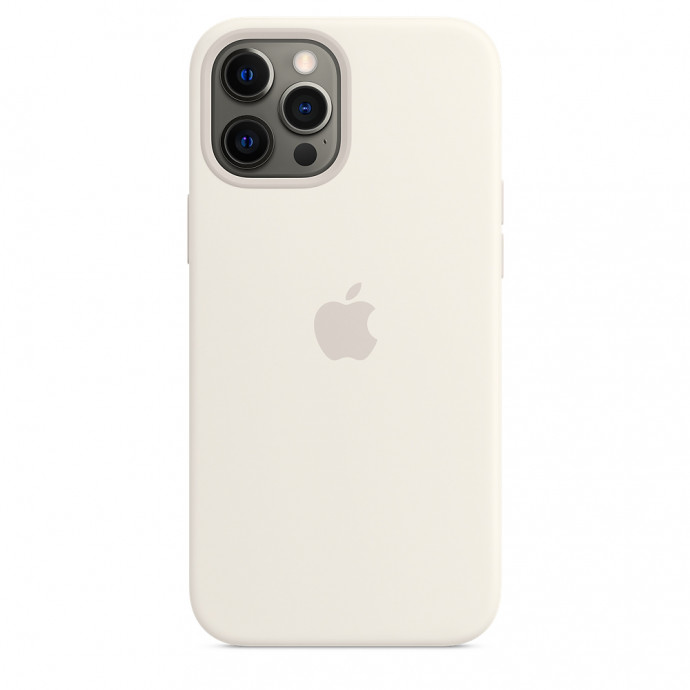 iPhone 12 / 12 Pro Silicone Case with MagSafe - White 3