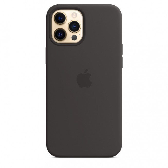iPhone 12/12 Pro Silicone Case with MagSafe - Black 3