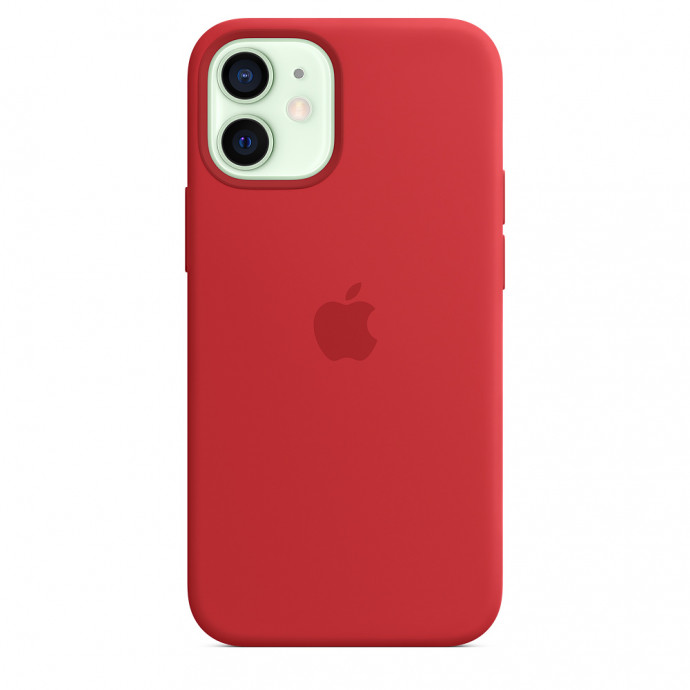 iPhone 12 mini Silicone Case with MagSafe - (PRODUCT)RED 1