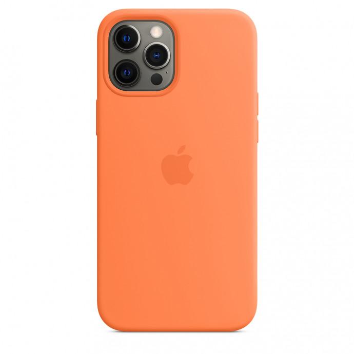 iPhone 12 / 12 Pro Silicone Case with MagSafe - Kumquat 1