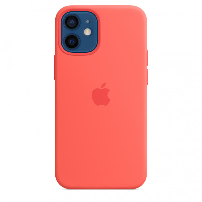 iPhone 12 mini Silicone Case with MagSafe - Pink Citrus 0