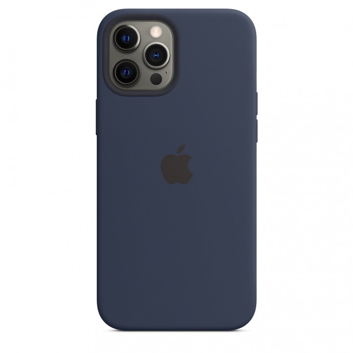 iPhone 12 / 12 Pro Silicone Case with MagSafe - Deep Navy 2