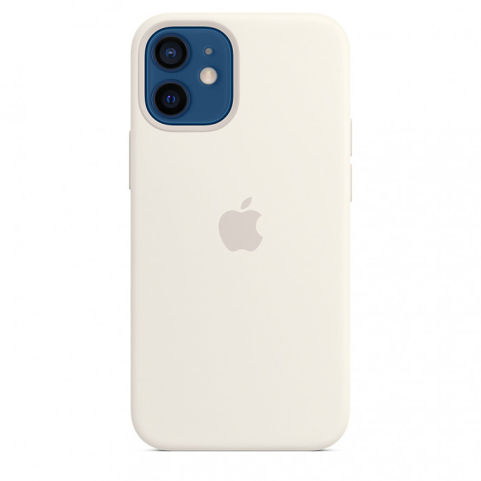 iPhone 12 mini Silicone Case with MagSafe - White 0