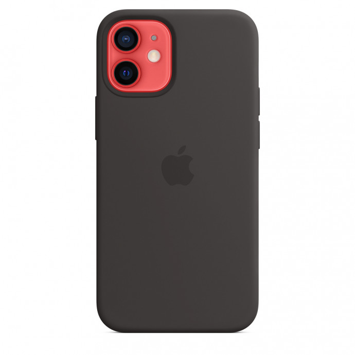 iPhone 12 mini Silicone Case with MagSafe - Black 3