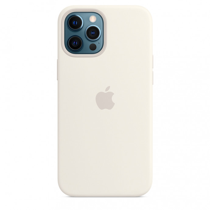 iPhone 12 Pro Max Silicone Case with MagSafe - White 0