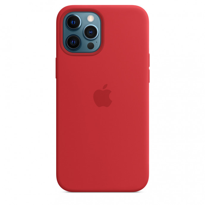 iPhone 12 Pro Max Silicone Case with MagSafe - (PRODUCT)RED 0