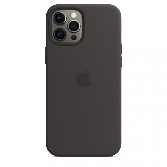 iPhone 12 Pro Max Silicone Case with MagSafe - Black 3