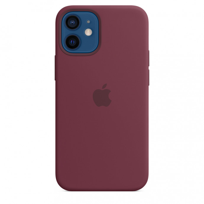 iPhone 12 mini Silicone Case with MagSafe - Plum 0
