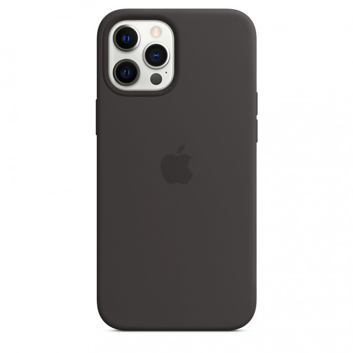 iPhone 12/12 Pro Silicone Case with MagSafe - Black 1