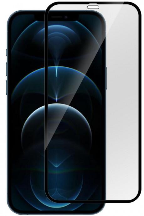 Aizsargstikls Apple iPhone 12 Pro Max Full black (Pro) 0