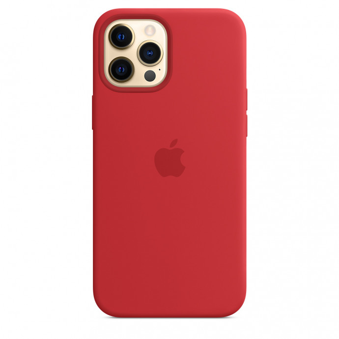 iPhone 12 Pro Max Silicone Case with MagSafe - (PRODUCT)RED 2