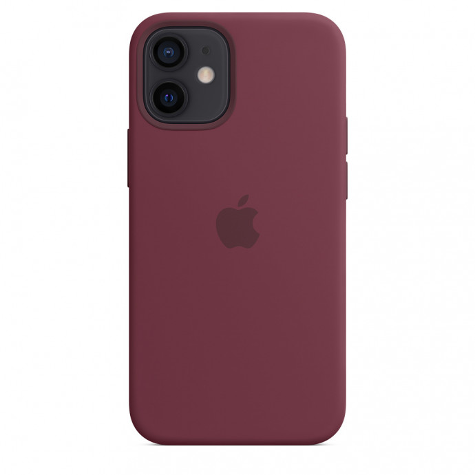 iPhone 12 mini Silicone Case with MagSafe - Plum 4