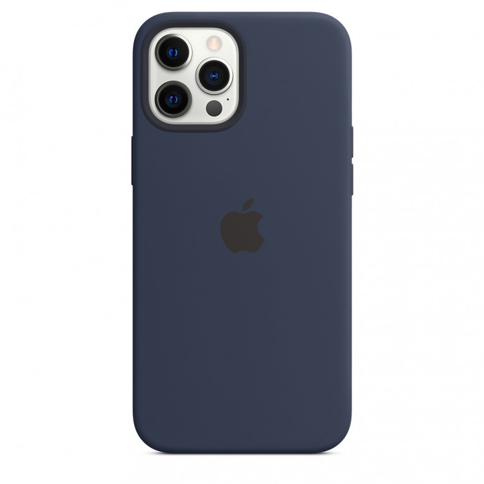 iPhone 12 / 12 Pro Silicone Case with MagSafe - Deep Navy 3