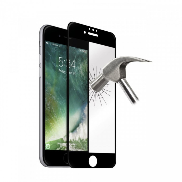 Aizsargstikls Apple iPhone 6+/6S+/7+/8+ Fullcover Black (Pro) 0