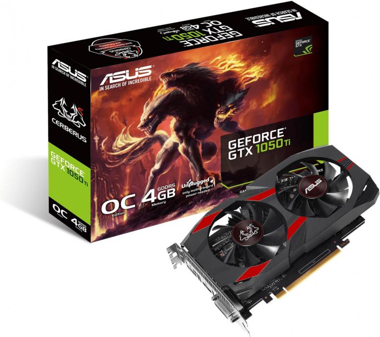 Videokarte ASUS NVIDIA GeForce GTX 1050 Ti CERBERUS 4GB 0