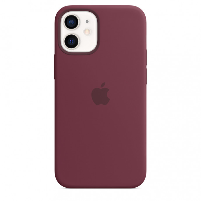 iPhone 12 mini Silicone Case with MagSafe - Plum 3