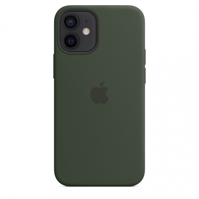iPhone 12 mini Silicone Case with MagSafe - Cyprus Green 4