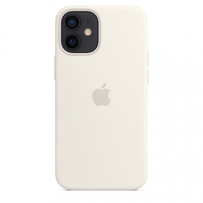 iPhone 12 mini Silicone Case with MagSafe - White 4