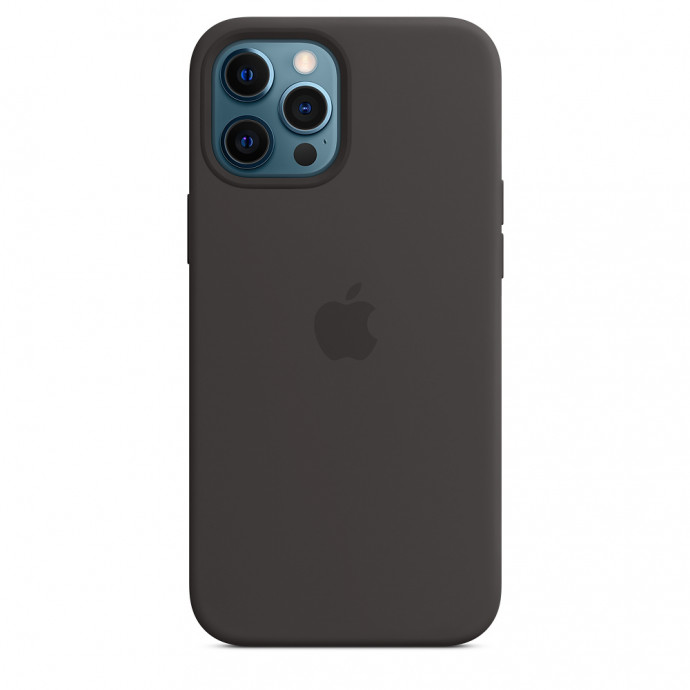 iPhone 12 Pro Max Silicone Case with MagSafe - Black 0